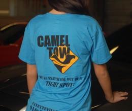 Womens Slogan Shirt Blue(3)