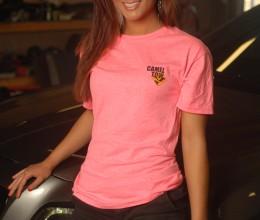 Womens Slogan Shirt Pink