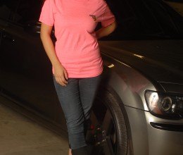 Womens Slogan Shirt Pink(5)
